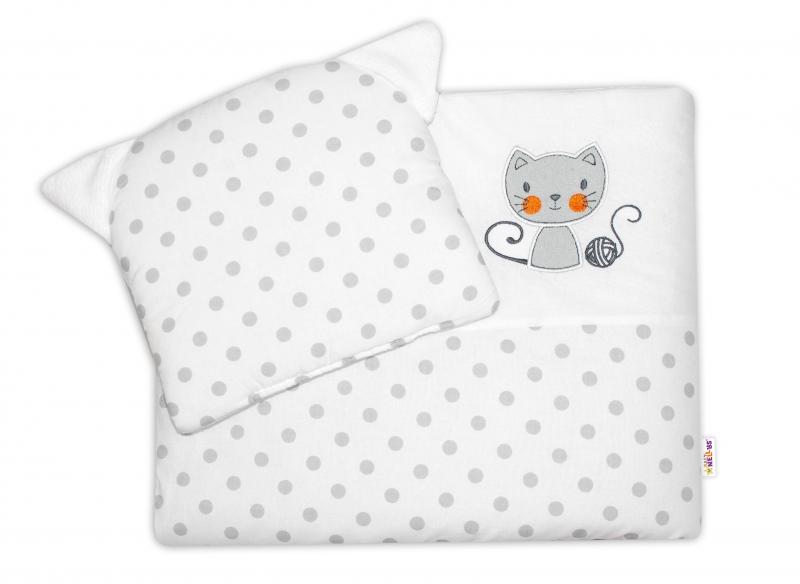 Detská sada do kočíka Baby Nellys ® Cat - bubble biela