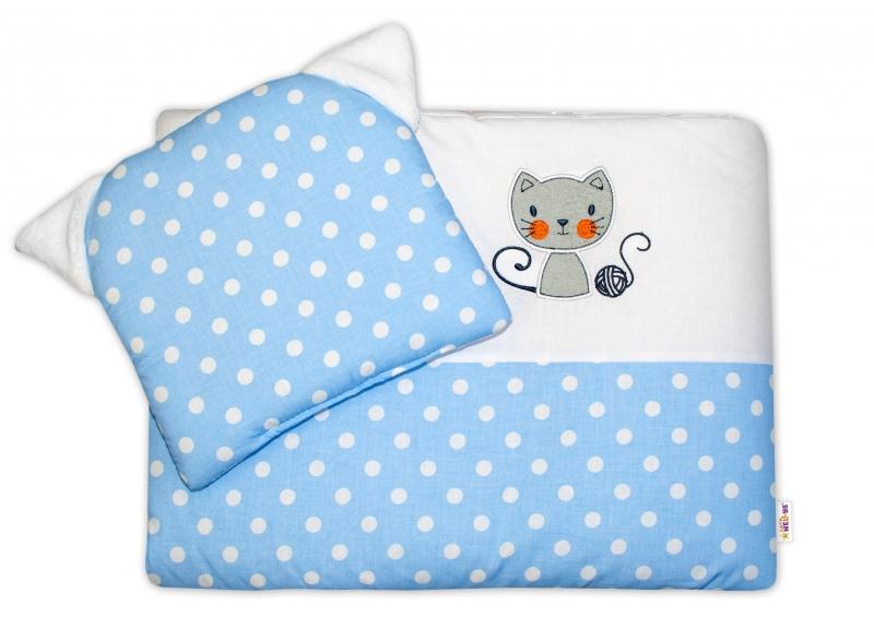 Detská sada do kočíka Baby Nellys ® Cat - bubble modrá
