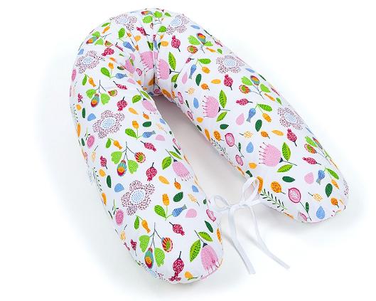 Mamo Tato Dojčiací vankúš - relaxačná poduška Multi Lúka ružová