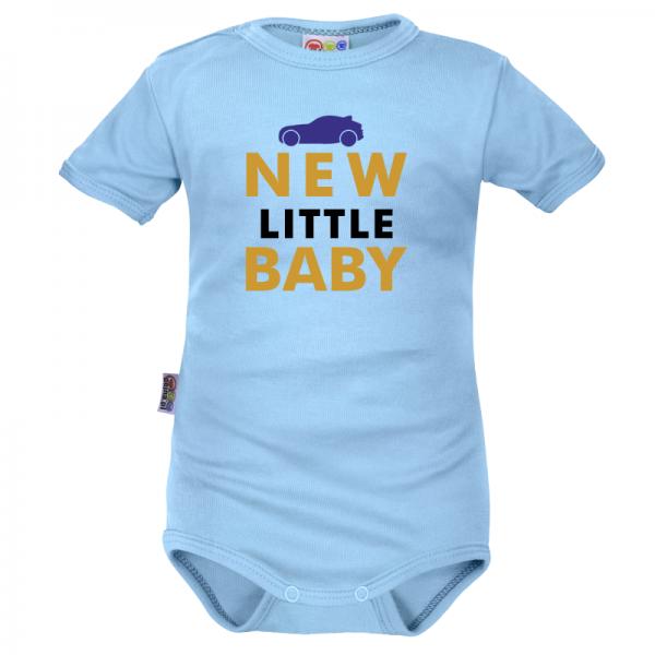 Body krátký rukáv Dejna New little Baby - Boy, modré, veľ. 80
