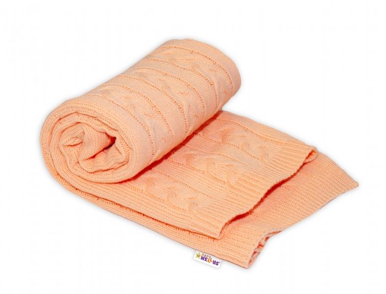 Detská akrylová deka, dečka Baby Nellys, 110 x 80 cm - marhuľová