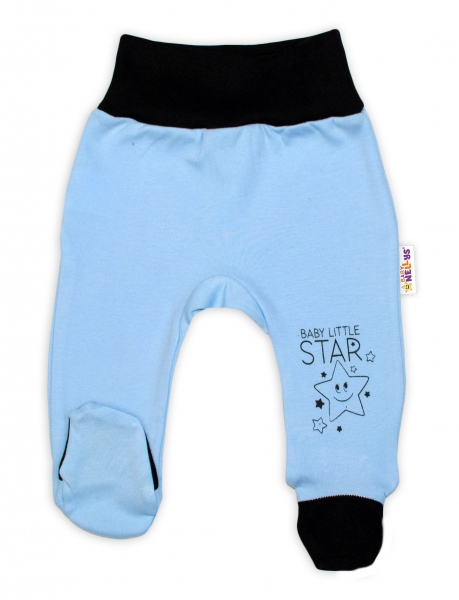 Baby Nellys Dojčenské polodupačky, modré - Baby Little Star, veľ. 56