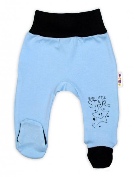 Baby Nellys 2-dielna sada body kr. rukáv + polodupačky, modrá - Baby Little Star