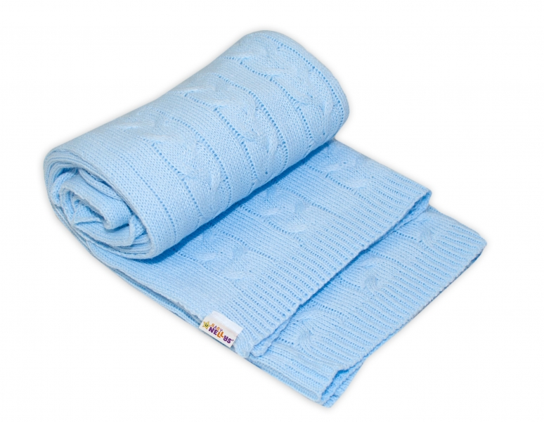 Detská akrylová deka, dečka Baby Nellys, 110 x 80 cm - sv. modrá