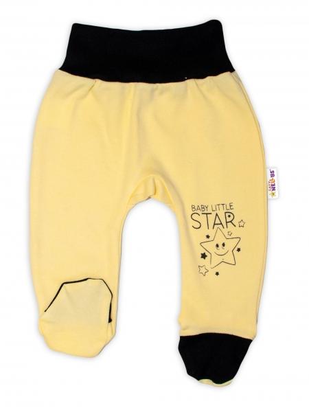 Baby Nellys 2-dielna sada body kr. rukáv + polodupačky, žltá - Baby Little Star, veľ. 62