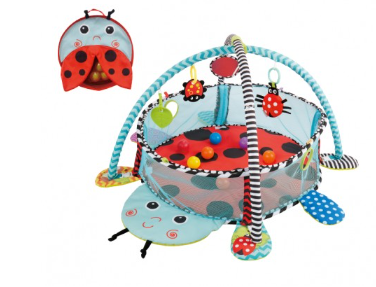 Vzdelávacia hracia deka s 30 loptičkami Konig Kids - Lienka