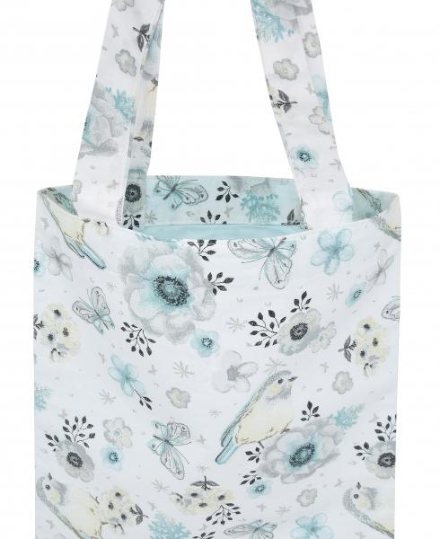 Bavlnená taška Baby Nellys Maxi pre mamy - Vtáčiky mätové