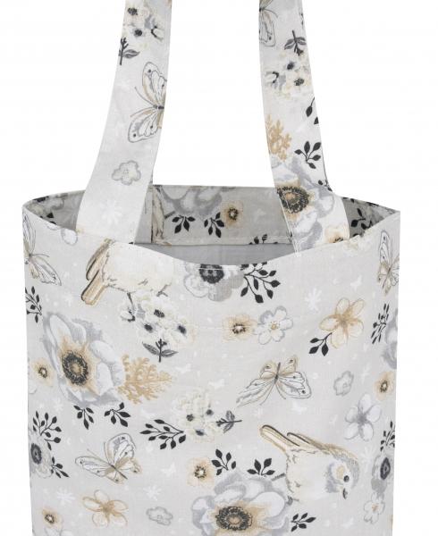 Bavlnená taška Baby Nellys Maxi pre mamy - Vtáčiky béžové