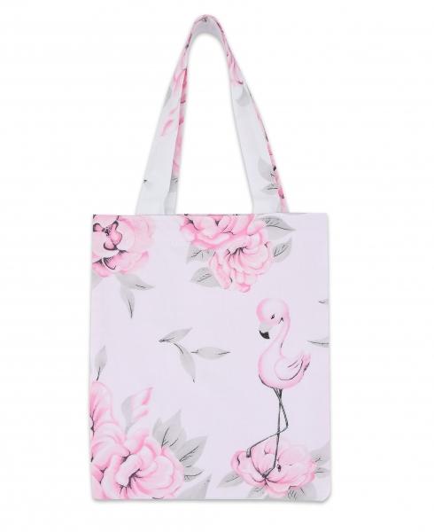 Bavlnená taška Baby Nellys Mini pre deti - Plameniak ružový