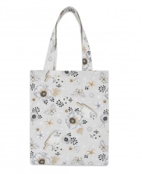 Bavlnená taška Baby Nellys Mini pre deti - Vtáčiky béžový