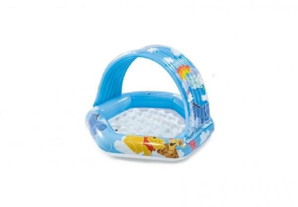 Bazén detský nafukovací dno so strieškou 1-3 rokov 43x40x28cm v krabici 22x24x7cm