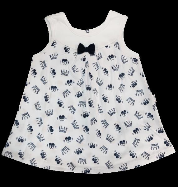 Bavlnené šatičky Mamatti na ramienka Princezna - biele/granát
