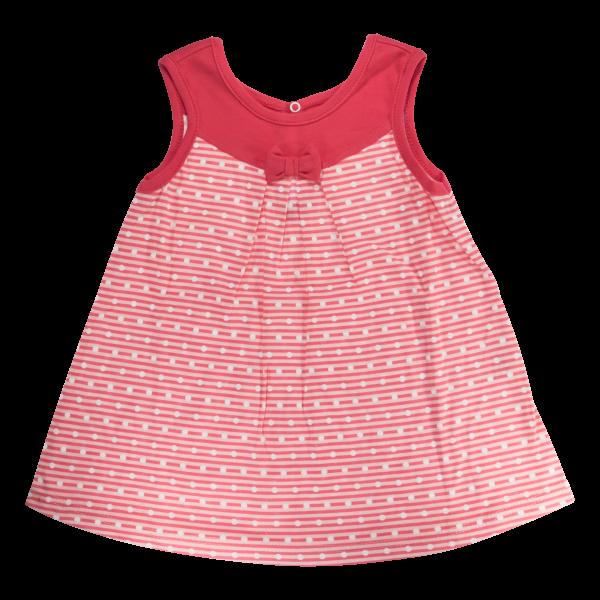 Bavlněné šatičky Mamatti na ramínka Love Girl - červené, vel. 104-104