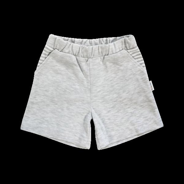 Dojčenské bavlnené nohavičky, kraťasky Mamatti Gentleman - sivé, veľ. 104