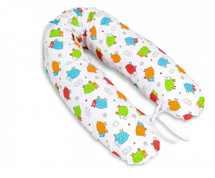 Mamo Tato Dojčiací vankúš - relaxačná poduška Multi - Farebné ovečky