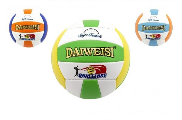 Lopta volejbalový šitý kože 20cm asst 3 farby v sáčku