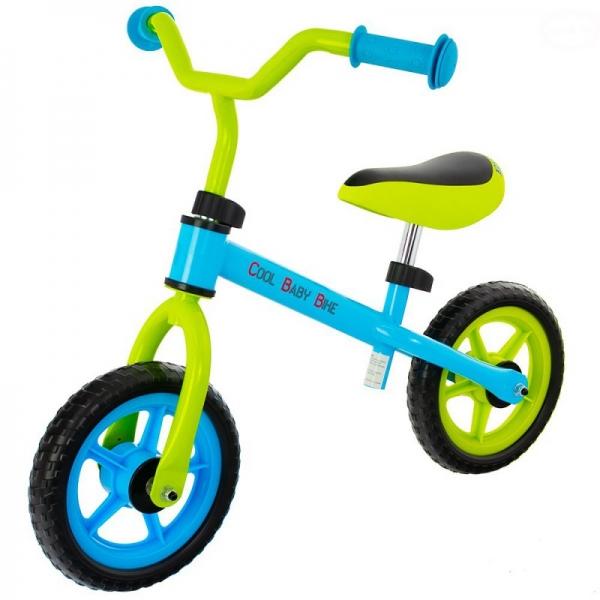 Euro Baby Detské odrážadlo, bicykel Cool Baby - zeleno/modré, kola - 9.5