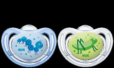 Cumlík Freestyle Nuk 0-6 m kluk - modrý/zelený