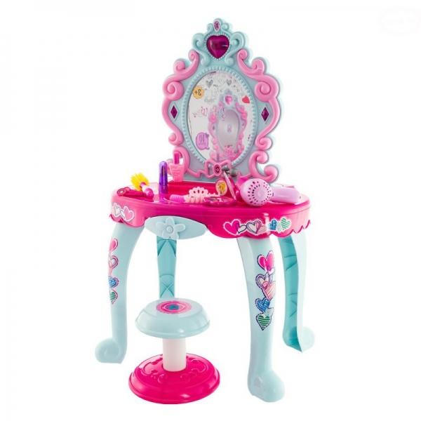Dievčenské toaletný stolček Euro Baby s stoličkou  a doplňky