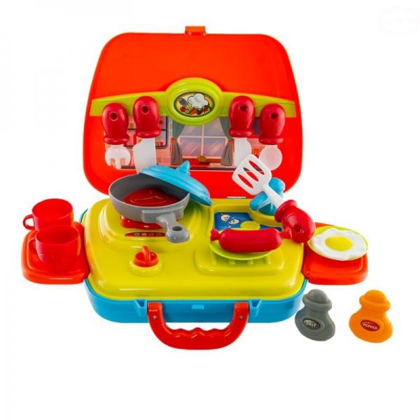 Detská mini kuchynka Euro Baby v kufríku