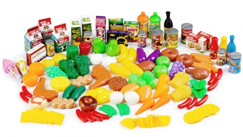 Plastová sada ovocia a zeleniny