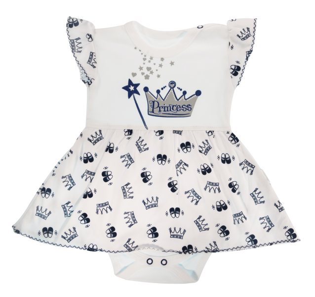 Bavlnené sukničkobody Mamatti Princezná - krátky rukáv - granátové, veľ. 80