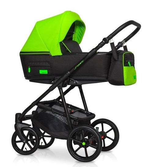 Detský kočík 2v1, Riko 2019 - Swift Neon - Green