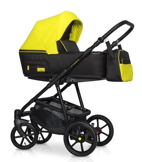 Detský kočík 2v1, Riko 2019 - Swift Neon -  Crazy Yellow