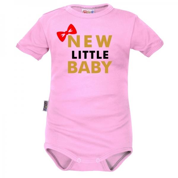 Body krátký rukáv Dejna New little Baby - Girl, růžová, veľ. 68-68 (4-6m)