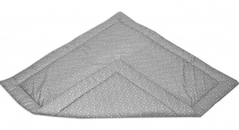 Podložka do stanu pre deti teepee, típí - mini hviezdičky biele na šedom / mini Hviezdičky