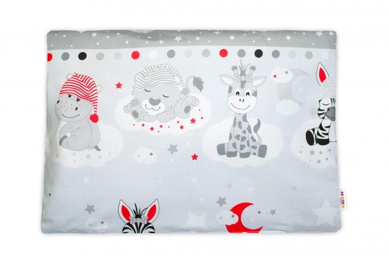 Baby Nellys Povlak na vankúšik Safari Baby, 40x60 cm - sivý
