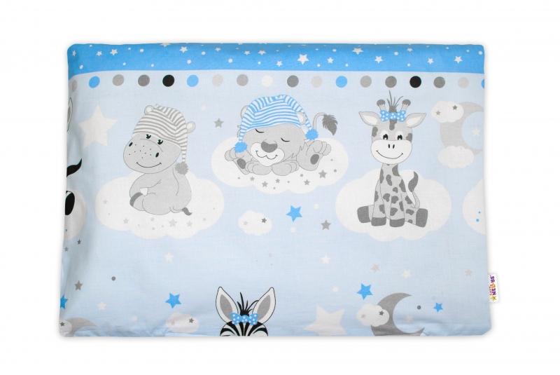 Baby Nellys Povlak na vankúšik Safari Baby, 40x60 cm - modrý
