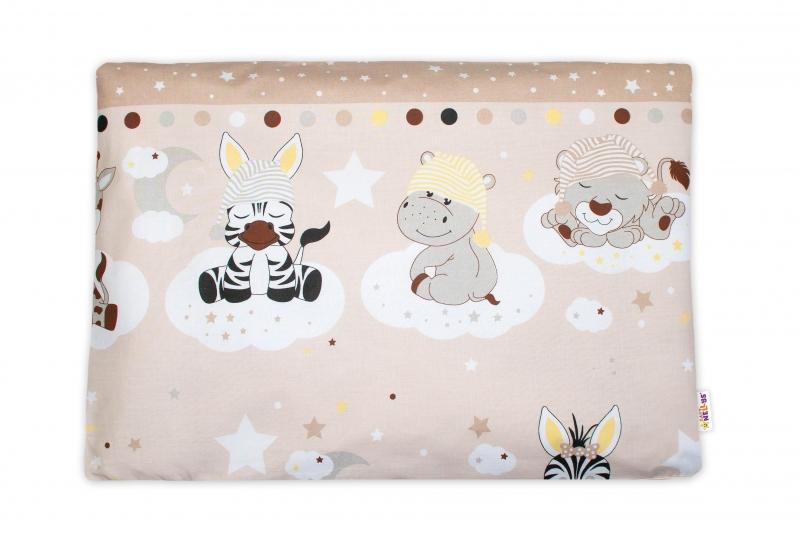 Baby Nellys Povlak na vankúšik Safari Baby, 40x60 cm - bežový