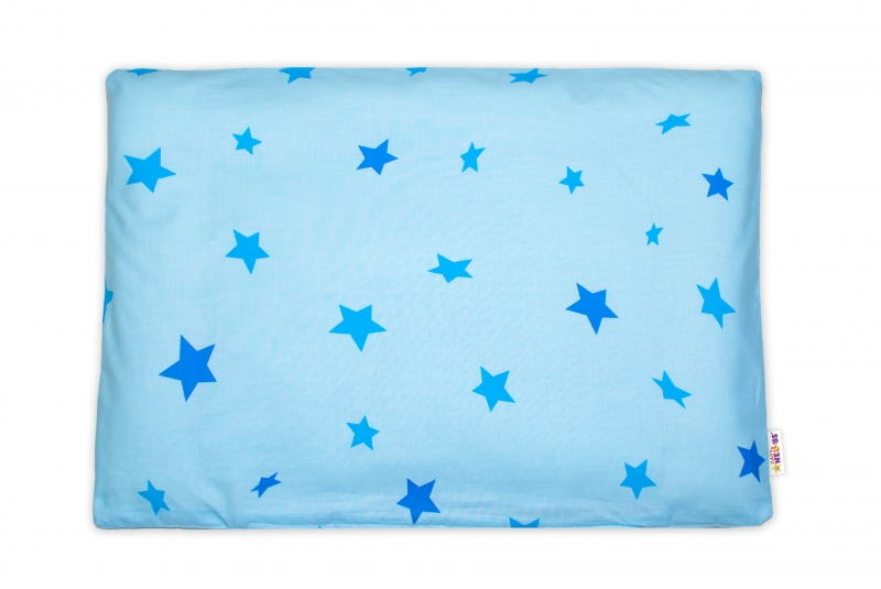 Baby Nellys Povlak na vankúšik Baby Stars, 40x60 cm - modrý