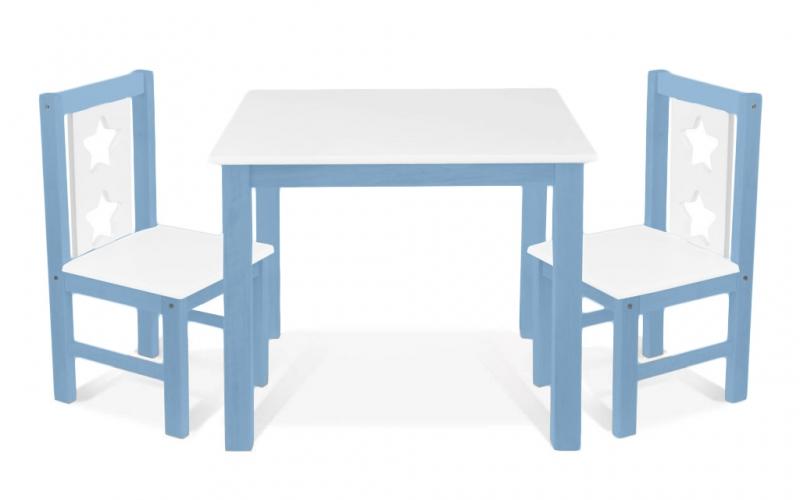 BABY NELLYS Detský nábytok - 3 ks, stôl s stoličkami - růžová, biela, C/02