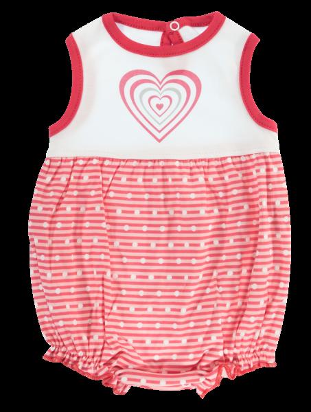 Body s nohavičkami Mamatti Love Girl - krátky rukáv, veľ. 74