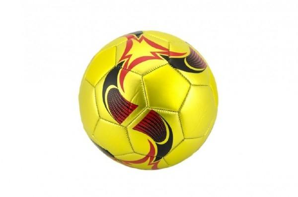 Lopta futbalová zlatý šitý 22cm vel. 5 kože