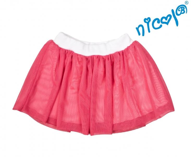 Dětská sukne Nicol, Mořská víla - červená, veľ. 104-104