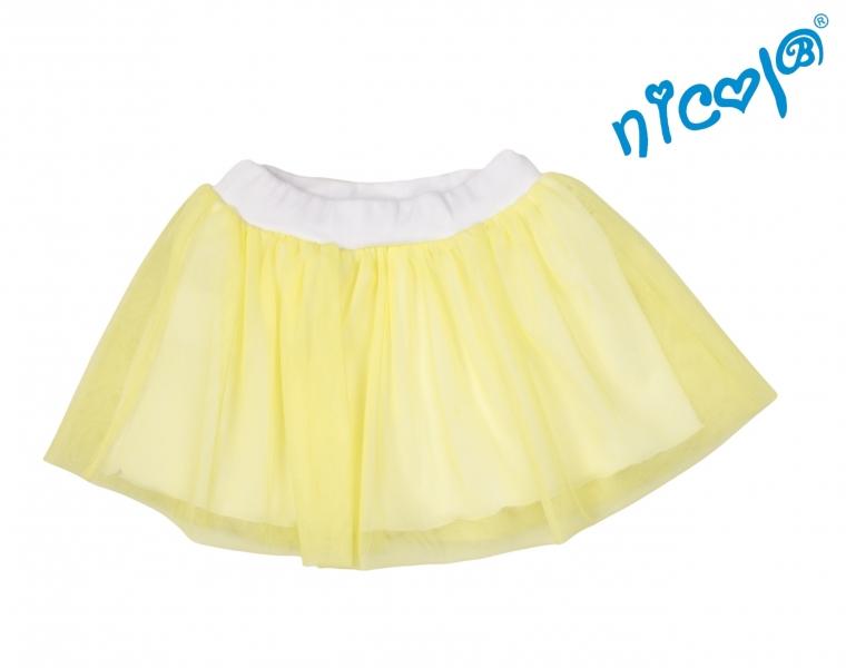 Dojčenská sukne Nicol, Mořská víla - žltá, veľ. 86