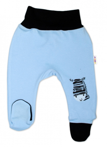 Baby Nellys Dojčenské polodupačky, modré - Zebra, veľ. 86-#Velikost koj. oblečení;86 (12-18m)