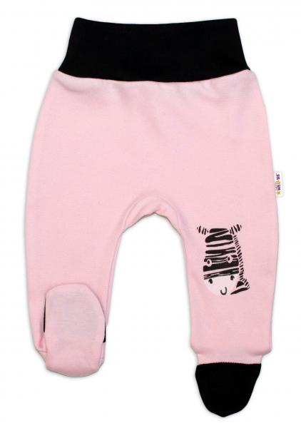Baby Nellys Dojčenské polodupačky, ružové - Zebra veľ.50