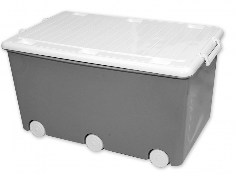 Tega Baby Pojazdný box na hračky Sovy - sivé