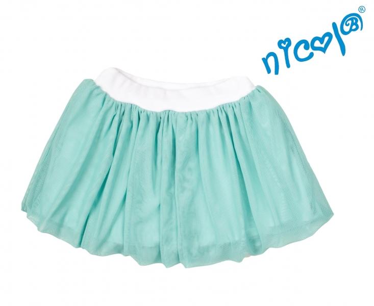 Dojčenská sukne Nicol, Mořská víla - zelená, veľ. 74