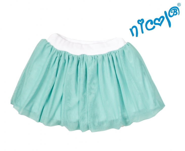 Dojčenská sukne Nicol, Mořská víla - zelená, veľ. 80