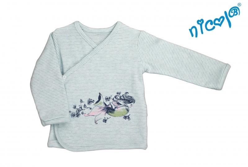 Nicol Bavlnená košieľka Morská víla - zapínanie bokom - matova, veľ 52