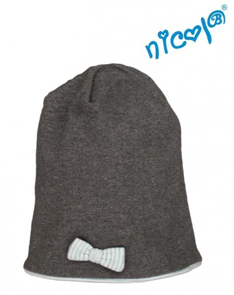Detská čiapka Nicol Morská víla - grafitová, veľ. 122/128-#Velikost koj. oblečení;122/128