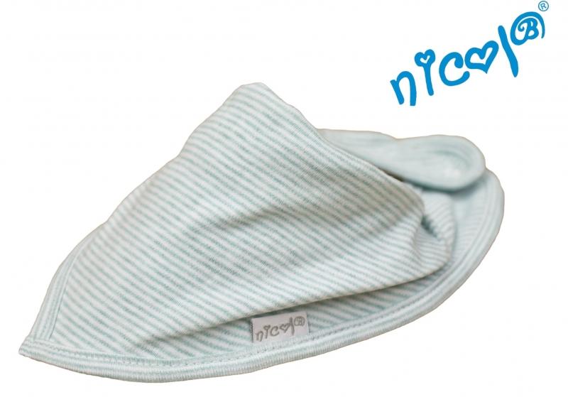 Bavlnená šatka na krk Nicol, Morská víla - sivá