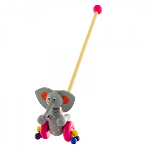 Drevená jazdiaca hračka Euro Baby - sloník
