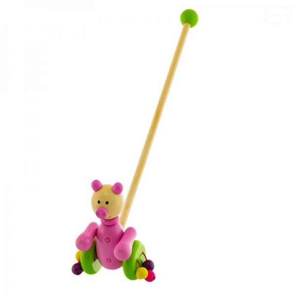 Drevená jazdiaca hračka Euro Baby - prasiatko
