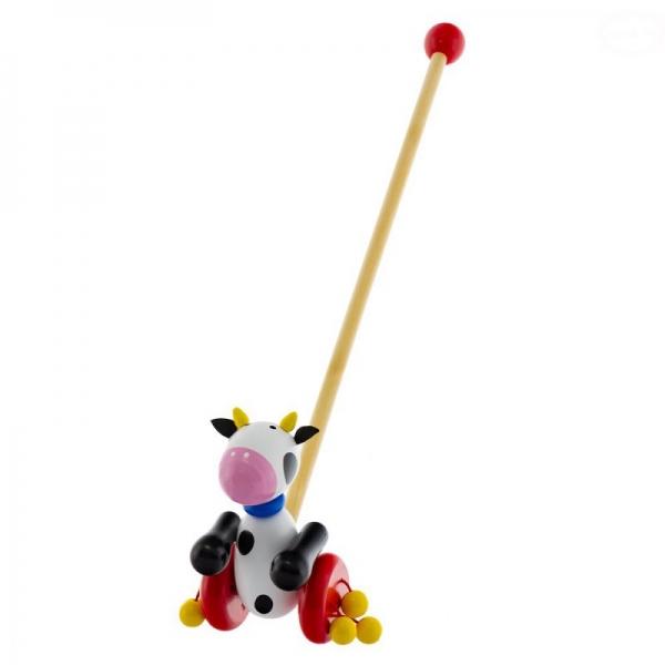 Drevená jazdiaca hračka Euro Baby - kravička
